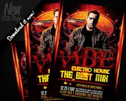Vibe Electro House DJ Flyer Template PSD by REMAKNED
