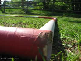 Red and White Poles by ApachePower