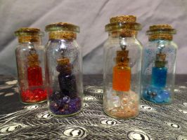Potion Bottle Within a Bottle Charms by ADarkenedHollowLight