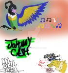 Johnny Cash the Chatot by brobeth
