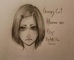 Grumpy Cat -Human Version- by RedStar-Sama