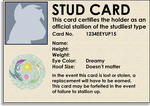 Official Brony Stud Card by MountainLygon