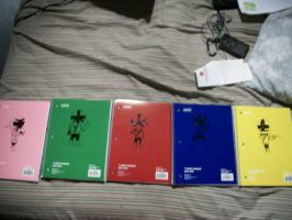 Shinkenger notebooks by ZIX89
