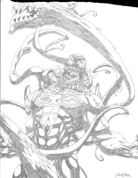 Venom WIP 3 pencils by Grimmwerkz