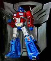 Old school Optimus by lunrsilvreclips