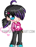 Emo Micro Chibi ::Commission:: by YamPuff