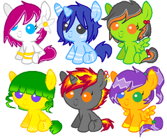 Baby Pony Adoptables ::CLOSED:: by Naruto-awesome