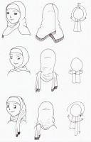 Three Hijab Style Reference by Muslim-Women