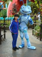 Me and Flik at Disney Bug's Land photo 2 by Magic-Kristina-KW