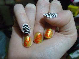 Ryohei Inspired Nails-Right by pockyXbandit