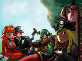 Epic Battle Fantasy 4 Team by ZaneZansorrow