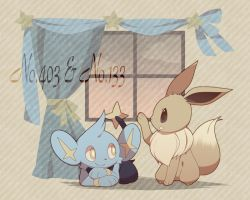 Shinx and eevee with their numbers by humphreywolf2012