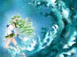 michiru kaioh - sailor Neptune - Neptune tsunami by zelldinchit