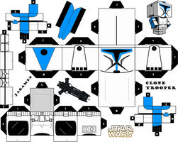 Clone Trooper Cubeecraft by JagaMen
