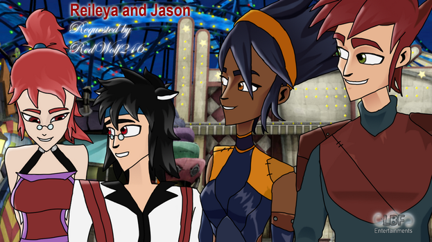 Request: Reileya and Jason with Aerrow and Piper by 123leyang321
