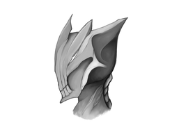 Warframe helmet thing by PurrinceKitty