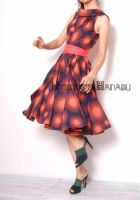 Orange Dots 50s Full Dress by yystudio