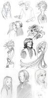 Potter doodles scetchdump by memyselfandAyame