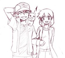Pokeshipping_Sketch by Atharple