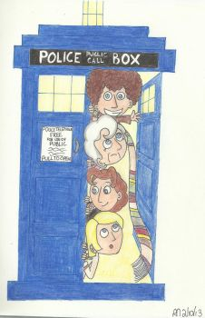 The Doctor and the TARDIS by Kindra-Mckleen