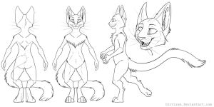 FREE Male Feline ref lines by Key-Feathers