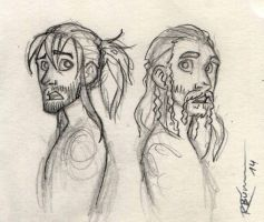 Kili and Fili sketch by CaptBexx
