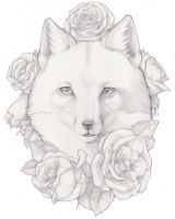Fox Tattoo Design by aissatan