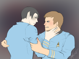Spock/McCoy for TheLokiePokey by Katze-Kazet