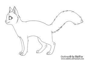 Cat outline for Paint by RukiFox