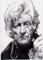 John Pertwee as the third Doctor Who by Kate-Murray