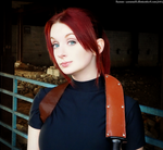 Claire Is Not Amused-RE2 Claire Redfield Cosplay by Hamm-Sammich
