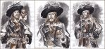 Captain Hector Barbossa, sketch. by Bormoglot