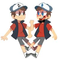 Dipper and Tyrone by IceyRaichu