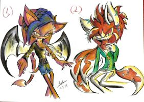 New OCs ~Velvet and Ocher~ by iheartsonic