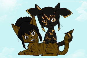 Boris and Cherry by YellowfangOfStarclan