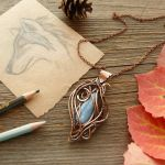 Copper pendant She-Wolf by UrsulaOT