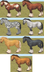 FH: WoW Horse Mesh Pack by miilkyprince