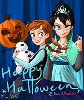 Disney-Frozen Happy Halloween guys~! by ChiehChen
