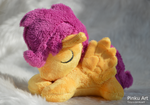 Sleepy Scootaloo plush by PinkuArt