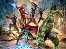 avengers movie poster 2 by Seanbean80