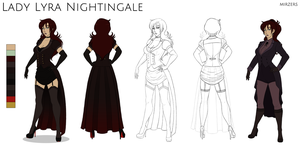 Lady Lyra Nightingale Reference Sheet by mirzers