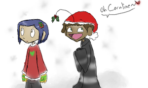 CoralinexWybie :Christmas?: by Super-Cute