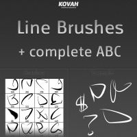Line Brushes + complete ABC by theKovah