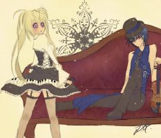 Utau and Ikuto by yasuhime19