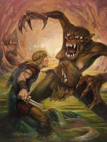 Beowulf's Battle by BrittMartin