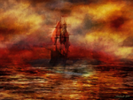 The Ship with Scarlet Sails by raysheaf