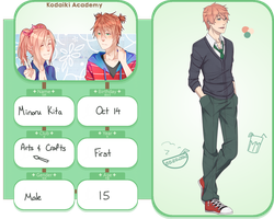 KA: Student Application sheet - Minoru Kita by emuyh
