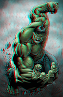 Hulk conversion 2D to 3D Anaglyphs Red Cyan by Fan2Relief3D