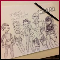 Day 10 inktober challenge _Teen Titans by Tanis711