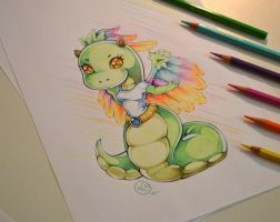 Chibi Rainbow Naga by Lighane